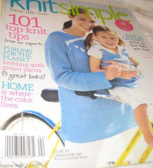 Knit SIMPLE magazine 101 top tips lace tunic green yarns spring/summer 2009