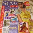 Sew HOME magazine December 2012  fabric  headboard vintage stockings free mag