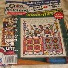 Cross Country Stitching Magazine  butterflies catnip tea towel august 2011