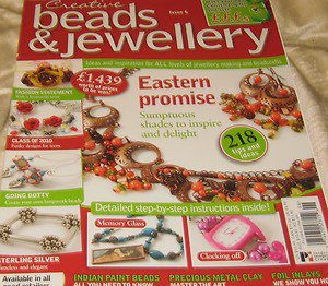 Creative Beads & Jewellery Magazine Eastern Promise shades inspire issue 6 2011