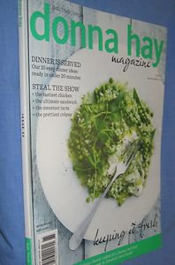DONNA HAY Magazine  Keeping It Fresh. # 65 2012 easy 20 minute dinner FREE book