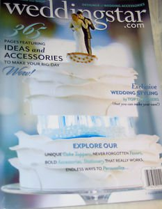 Weddingstar magazine 2013 DESIGNER styling personalize cake toppers
