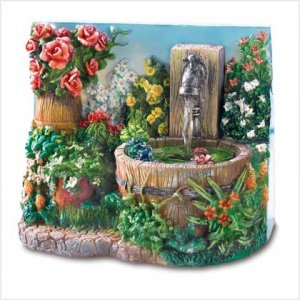 Floral Fantasy Mini-Fountain