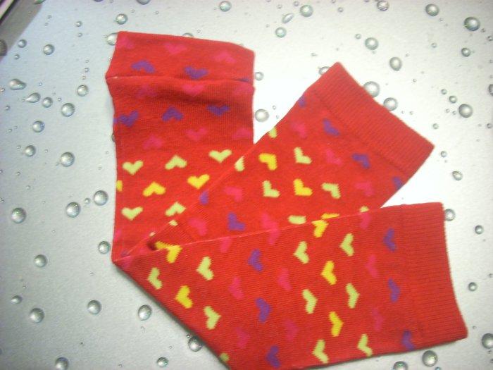 Baby Legs--Red Valentine Multi Hearts