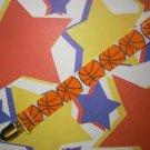 Basketball Pacifier Clip