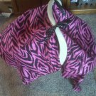 Pink and Black Car Seat Cover