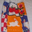 Spring Bunny Kitchen Hanging Towel White Top