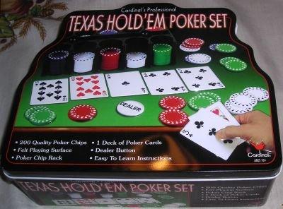 TEXAS HOLD'EM CARD GAME POKER SET
