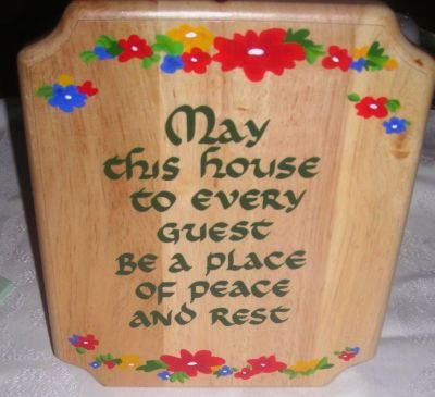 Wooden Kitchen Wall Plaque (May This House to Every...)