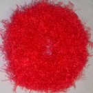 Fun Fur Handmade Crocheted Scrunchies Red Orange