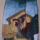 Rooster Hanging Kitchen Towel Green Top