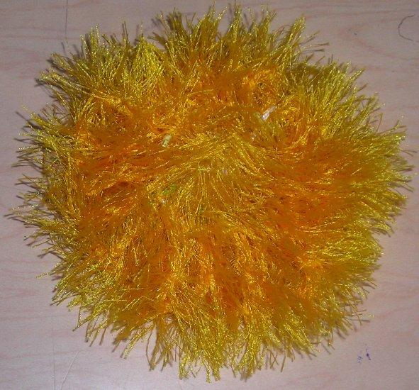 Fun Fur Handmade Crocheted Scrunchie Yellow