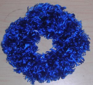 Fun Fur Handmade Crocheted Scrunchies Blue Ribbon