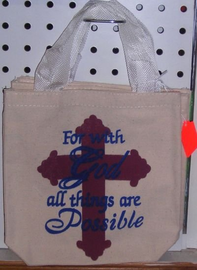 Small Tote Bag For With God All Things Are Possible