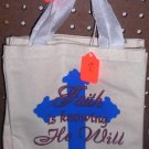 Small Tote Bag Faith Is Knowing He Will