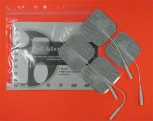 "2""x 2"" Square Self-Adhesive Reusable TENS/ EMS Electrodes 4/pk"