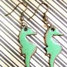 Seafoam Seahorses- Earrings