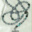 Frosted Glass with Turquoise Rosary