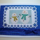 Hollaa holiday card: Snowmen pair handmade ann