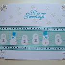 Hollaa holiday card: Seasons Greetings Snowmen handmade ann