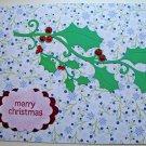 Hollaa holiday card: Merry Christmas holly handmade ann