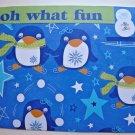 Hollaa holiday card: oh what fun penguins handmade ang