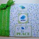 Hollaa holiday card: hope & peace birds handmade ang