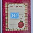 Hollaa holiday card: Dear Santa, Hi! handmade ang