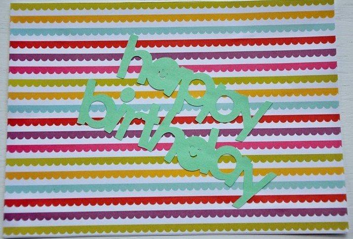 Hollaa birthday card: banner handmade ang