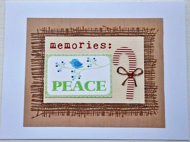 Hollaa holiday card: memories of peace handmade ang
