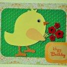 Hollaa birthday card: Bird with Flowers ann