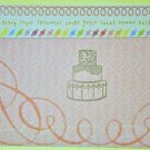 Hollaa wedding card: Sweet Cake handmade ang