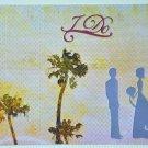 Hollaa wedding card: Sunset I DO handmade ang