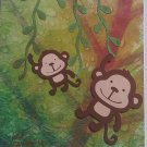 Hollaa birthday card: Swinging Monkey ann