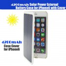 New 4200mah Solar Power External Backup Battery Charger Case Apple iPhone 6 Plus - Black / White