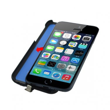 """2800mAh Rechargeable External Battery Backup Charger Case Cover for iPhone 6 4.7"""" - Black"""