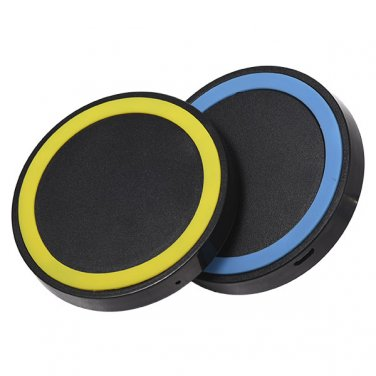 Wireless Charger Pad Compact iPhone 6 Plus 6 5S iPad Samsung Galaxy - Yellow / Blue