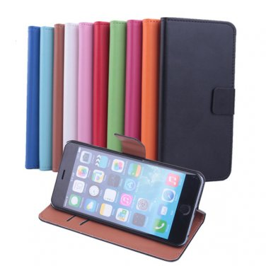 """5.5"""" Flip Magnetic PU Leather Protective Case for iPhone 6 Plus -10 Colors"""