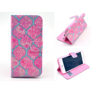 "Wallet Style PU Leather Flip-up Personal Pattern Case Stand Function Card Slots for 4.7"" iPhone 6"