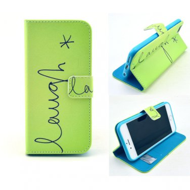 """Wallet Style PU Leather Flip-up Personal Pattern Protector Case Card Slots for 4.7"""" iPhone 6"""