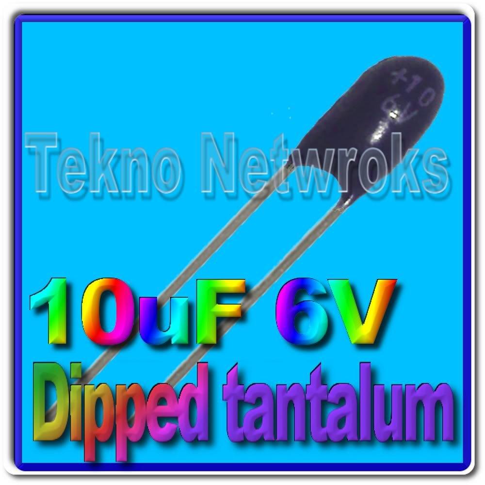10uF 6V dipped Tantalum Capacitors USA+Tracking 20