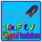 10uF 6V dipped Tantalum Capacitors USA+Tracking 20