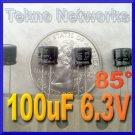 100uF 6.3V Electrolytic Capacitor USA+Tracking 25pcs