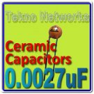0.0027uF 2.7nF 50V Ceramic Capacitors USA+trackin 50psc