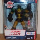 "2008 Bakugan Battle Brawlers TRU Exclusive Series 1 8"" Deluxe Monster and Figure- Gorem and Julie"