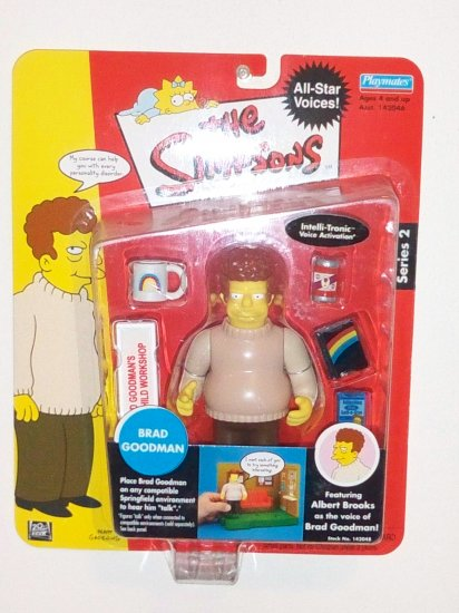 The Simpsons Series 2 Interactive Action Figure- Brad Goodman