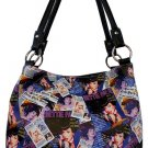 Bettie Page Collage Synthetic Leather Medium Tote