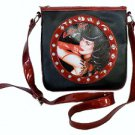 Bettie Page Vixen Synthetic Leather Messenger Bag