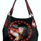 Bettie Page Vixen Synthetic Leather Medium Tote