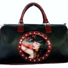 Bettie Page Vixen Synthetic Leather Overnight Tote Bag
